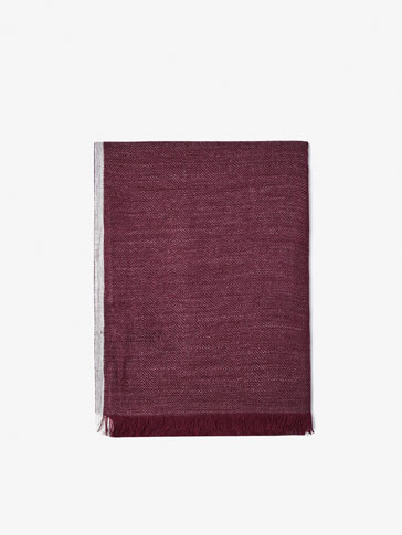 FOULARD WITH CONTRASTING EDGE