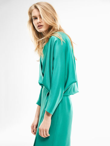 ROBE STRUCTURÉE BLEU TURQUOISE LIMITED EDITION
