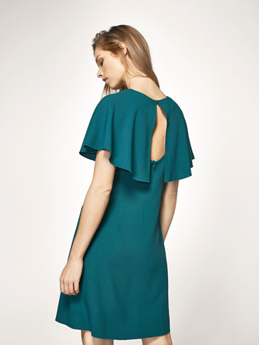 DRESS WITH CAPELLINA DETAIL