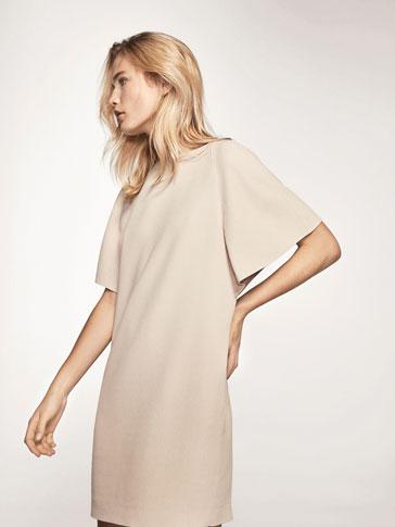 PLAIN BEIGE DRESS