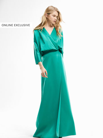LIMITED EDITION LONG TEXTURED WEAVE TURQUOISE DRESS