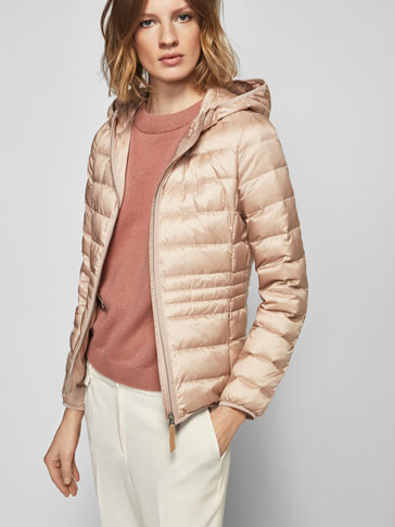 PINK FEATHER DOWN JACKET