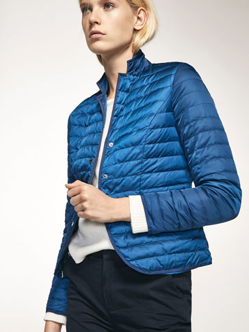 QUILTED BLAZER WITH GROSGRAIN DETAILS