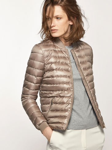 BOMBER STYLE DOWN JACKET