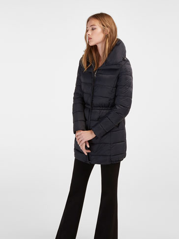 NAVY BLUE FITTED PARKA