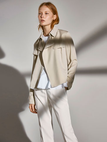 SHORT RELAXED TRENCH COAT