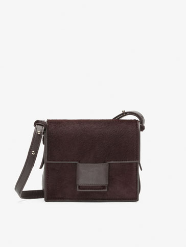 SMALL COLTSKIN FINISH LEATHER CROSSBODY BAG