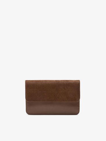 COLTSKIN FINISH LEATHER CLUTCH