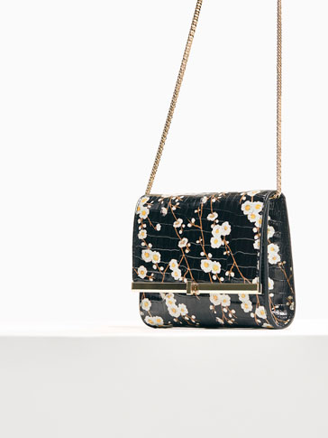 LIMITED EDITION FLORAL PRINT LEATHER CROSSBODY CLUTCH