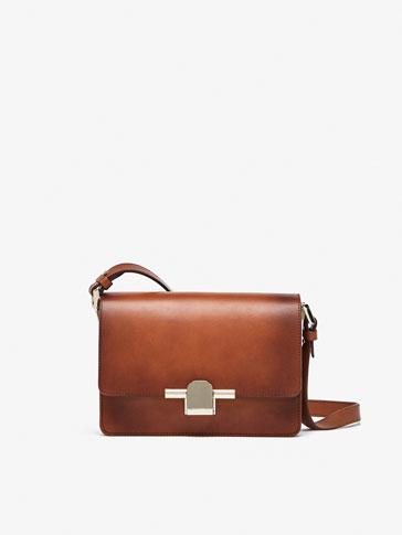 حقيبة ماسنجر جلدية سادة