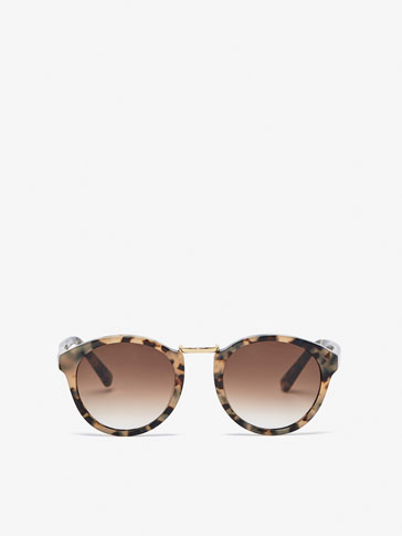 TORTOISESHELL SUNGLASSES WITH METAL DETAIL