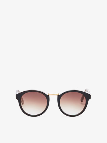 HORN SUNGLASSES WITH METAL DETAIL