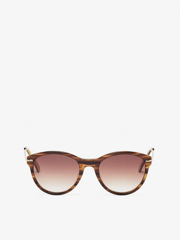 TWO-TONE HORN SUNGLASSES