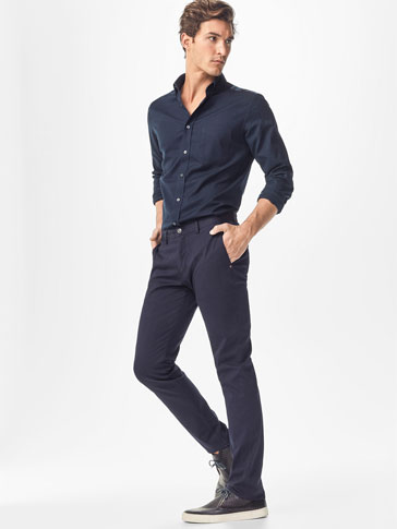 CASUAL FIT NEEDLECORD CHINOS