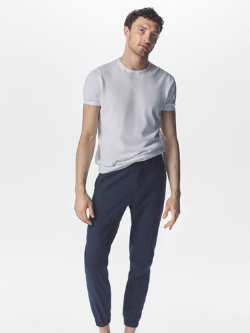 JOGGING STYLE TWILL TROUSERS