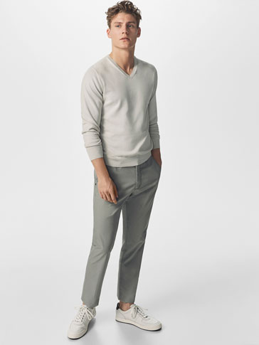 CASUAL FIT POPLIN CHINOS