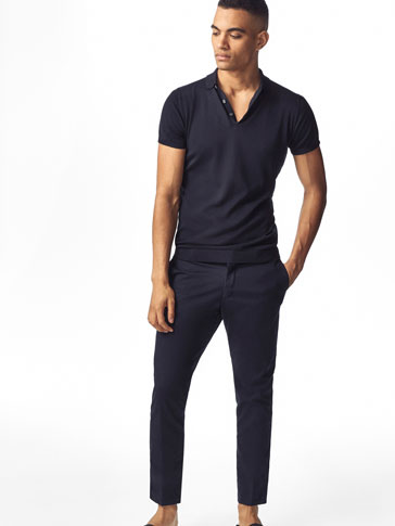SLIM FIT PLAIN CHINOS