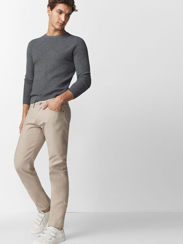 CASUAL FIT FIVE-POCKET OTTOMAN TROUSERS