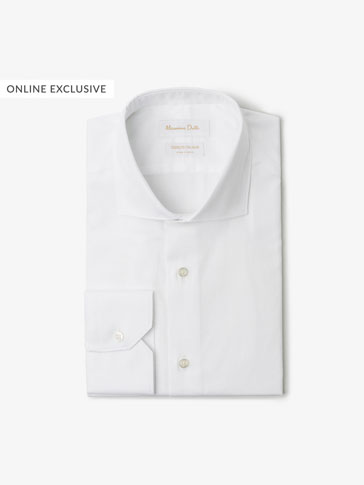 TEXTURED WEAVE SLIM FIT SHIRT