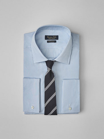 PERSONAL TAILORING LIGHT BLUE STRIPED SHIRT
