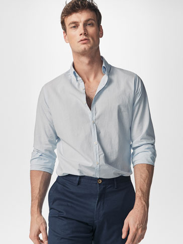 CHEMISE À RAYURES SLIM FIT