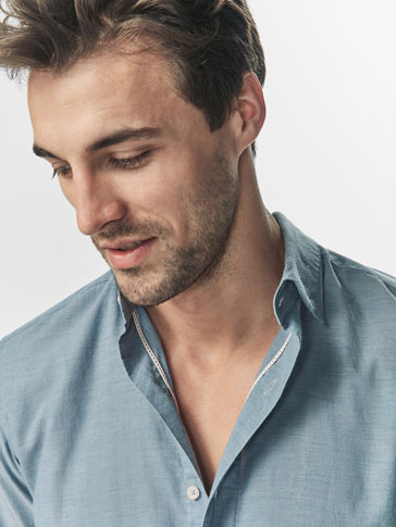 CAMISA DETALLE CINTA INTERIOR SLIM FIT