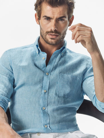 CAMISA LISA DE LINO CASUAL FIT