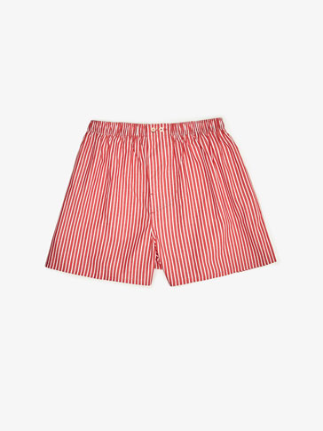 RED STRIPED PRINTED UNDERPANTS