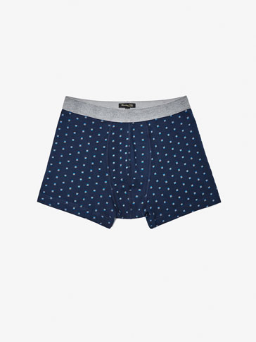 CIRCULAR-KNIT BRIEFS WITH A FLORAL PRINT
