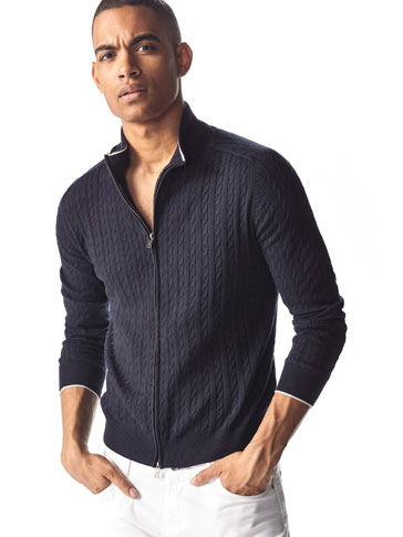 CARDIGAN CABLES STRIPE