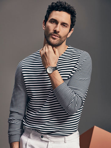 LIMITED EDITION KNIT SWEATER WITH NAVY STRIPES