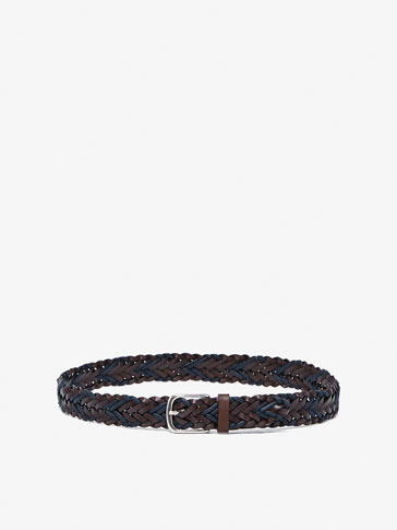 CONTRAST BELT WITH PLAITED DETAIL