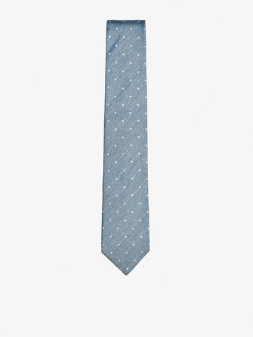 RUSTIC SILK TIE WITH DOTS
