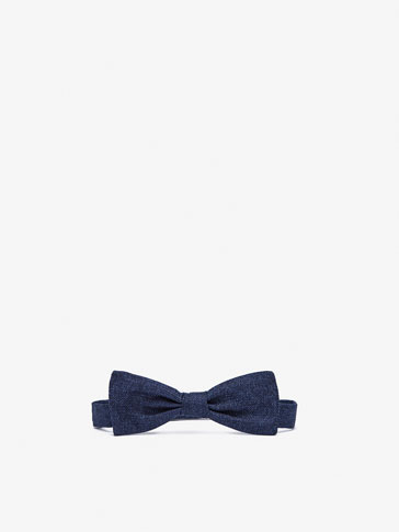 PLAIN COTTON/SILK BOW TIE