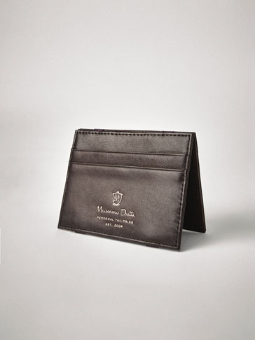 PERSONAL TAILORING PLAIN LEATHER MAGIC WALLET CARD HOLDER