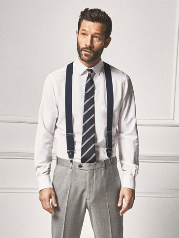 PERSONAL TAILORING NAVY BLUE BRACES