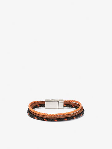 TRIPLE BRACELET WITH ORANGE DETAIL