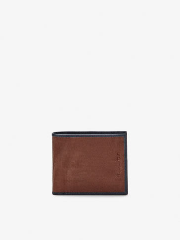 LEATHER WALLET WITH CONTRASTING DETAIL