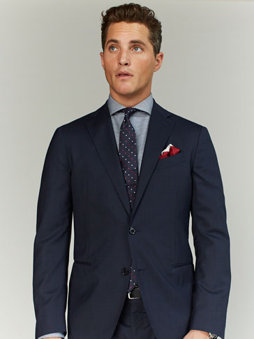 LIMITED EDITION TEXTURED WEAVE WOOL SLIM FIT BLAZER