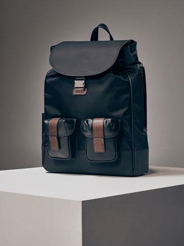 حقيبة ظهر جلد ممزوج تقني إصدار محدود