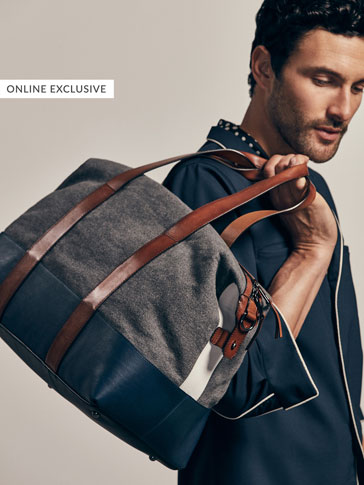 LIMITED EDITION CONTRAST COLOUR-BLOCK LEATHER BAG