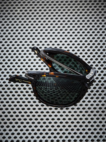 FOLDABLE TORTOISESHELL SUNGLASSES