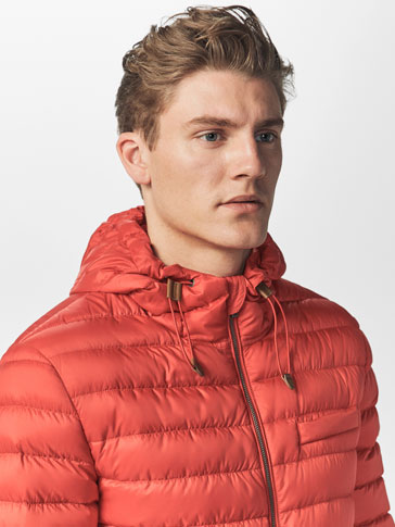 SUPER LIGHT QUILTED JACKET WITH HOOD
