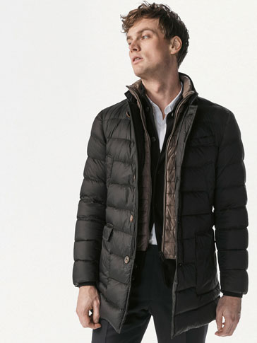 LONG LIGHTWEIGHT FEATHER DOWN COAT