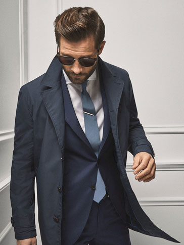 PERSONAL TAILORING NAVY TRENCH COAT