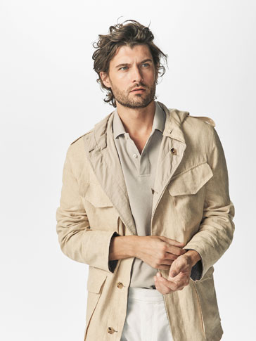LIMITED EDITION REVERSIBLE CONTRAST SAFARI JACKET