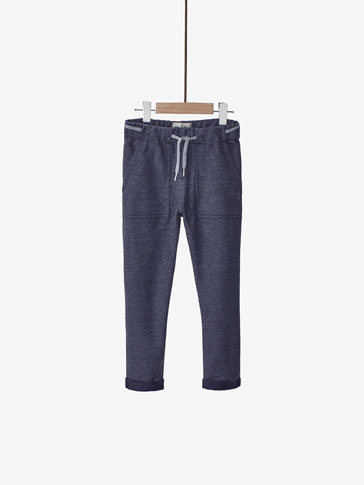BLUE JOGGING-STYLE TROUSERS