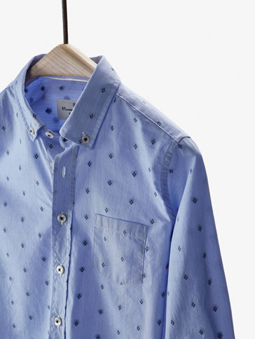 SHIRT WITH BLUE PLUMETIS DETAIL