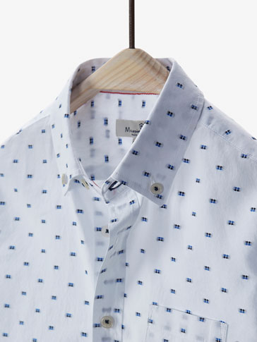 SHIRT WITH TWO-TONE PLUMETIS DETAIL