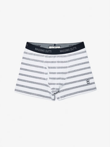 BOXER SHORTS WITH GREY STRIPES DETAIL